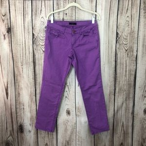 JessicaSimpson Purple Cropped Straight Leg Jeans
